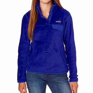 Patagonia bright blue fleece